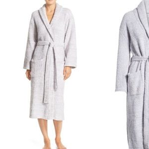 Barefoot dreams cozychic gray bath robe 3 large